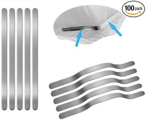 Nose Bridge Strip 100PCS,Shed Protector Aluminum Strips for DIY Mask Handmade Crafting Making Nose Bridge Clip 100