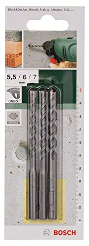 Bosch 2609256909 3 Piece Concrete -Set SDS-Quick Long Length Drill Bits