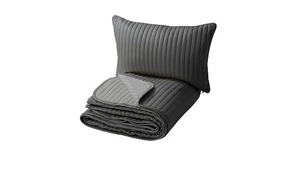 Ikea KARIT - Colcha y Funda de cojín, Gris - 180 x 280/40 x ...