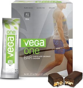 Vega One Bar Chocolate Coconut Cashew -- 12 Bars