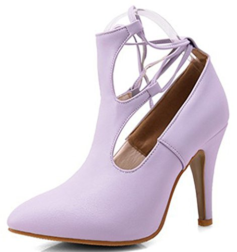 Easemax Lacets Violet À Pointu Escarpins Spécial Femme Bout HB6pR