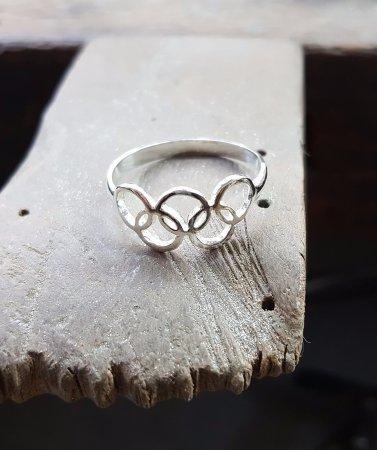(Olympic Games Rio 2016 - Olympic - Olympic Games - Ring - The Five Ringed - 925 Silver - Handmade)