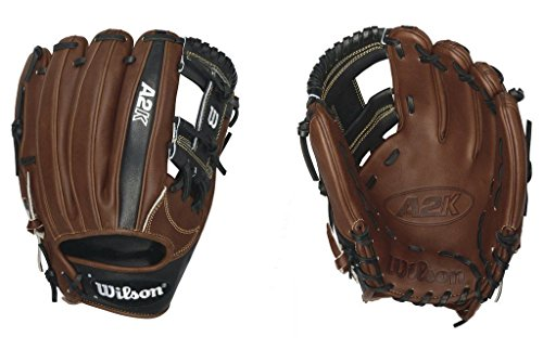 Infielders Glove Walnut Leather - Wilson 2016 A2K 1787 Baseball Glove, Walnut/Black/Blonde