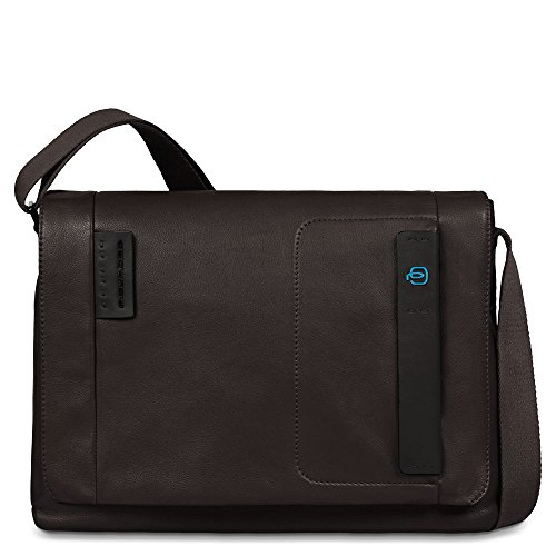 Piquadro Flap Over Computer Messenger Bag with iPad and iPad Mini Compartment, Brown, One Size by Piquadro