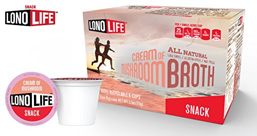 LonoLife Cream of Mushroom Soup - 10 Count Snack - For your Keurig Style Brewer