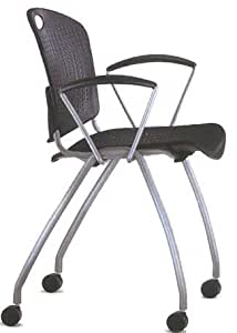 Amazon.com: Anytime Stackable Arm Chair with Casters ...