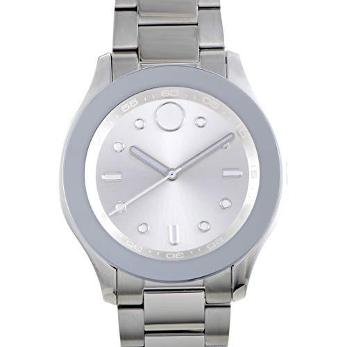 Movado Women's Swiss-Quartz Watch with Stainless-Steel Strap, Silver, 19 (Model: 3600415