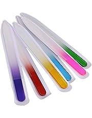 6st / set nagelfil kristall polering fil glas nagel konst manikyrfil för kvinnor tjej professionell polering