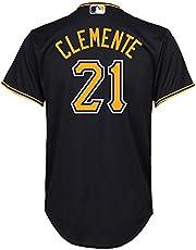 YQSB Camiseta Deportiva Baseball Jersey Liga de béisbol Pittsburgh Pirates # 21 Clemente Baseball Wear