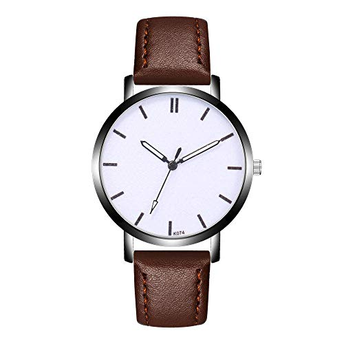 Chronograph Solid Wrist Watch - Theshy Fashion Design Leather Simple Dial Leather Band Analog Alloy Quartz Wrist Watch Leather Chronograph Watch