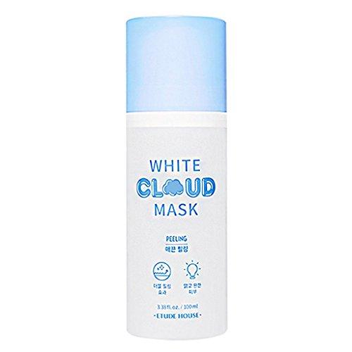 ETUDE HOUSE White Cloud Mask Peeling 3.38 fl.oz. (100ml) - AHA & BHA White Bubble Wash off Mask, Removes Dead Skin Cell, Skin Smooth Double Peeling Mask
