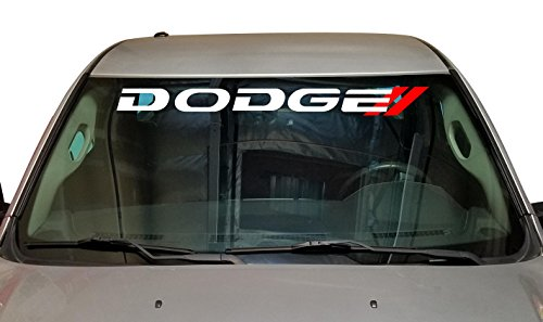 - DODGE Charger Decal Ready To Install Windshield Vinyl Sticker RAM 1500 Window Lettering