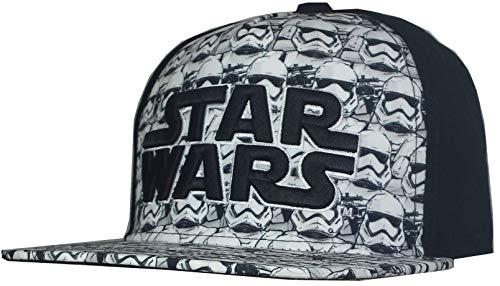 Star Wars Men's Stormtrooper Baseball Cap, Adjustable, Flat Bill Black ()