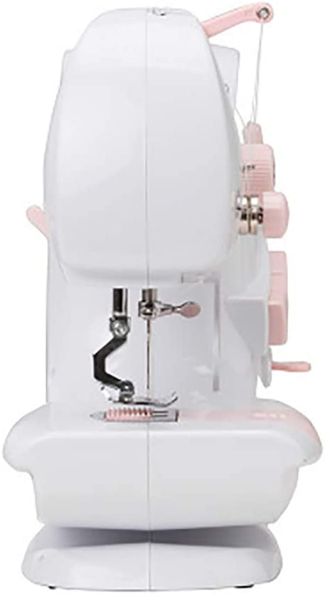 LXJ-KLD Mini máquina de Coser del hogar de Escritorio Multifuncional Miniatura Doble Aguja eléctrica Máquina de Coser