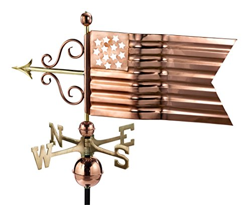 Good Directions American Flag Weathervane, Pure Copper ()