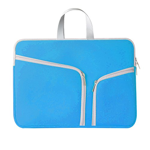 Chromebook Case, HESTECH 14-15.4 Neoprene Laptop Sleeve Case with Handle for 15-15.6 Inch HP | Dell | Asus | Acer | Thinkpad | Samsung Laptops Ultrabook, Blue