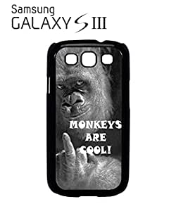 Monkeys are Cool Mobile Cell Phone Case Samsung Galaxy S3 White