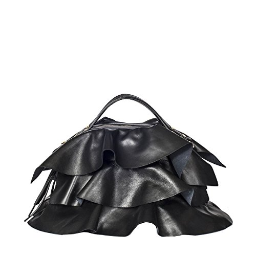 Borbonese Leder Handtaschen 954833400100 Schwarz Damen Rnr0qwaRf