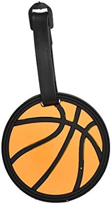 en plastique résistante Boucles-Lot de 1 Tagcrazy Sports Luggage Tags Basket-ball Design