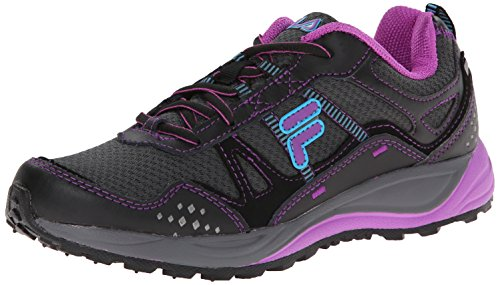 Fila Women's Statique Running Shoe, Dark Shade/Black/Purple Cactus Flower, 9 M - Is Com 6pm Reliable