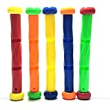 5 Colored Diving Sticks Underwater Swimming Sink Pool Play Toy Easy Grap,Kids Diving Training Gift Underwater Play Sticks