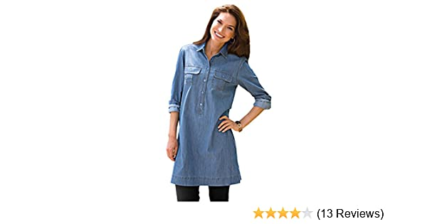 1b0cc6c2b2fcf3 Blair Women's Denim Tunic - L Denim at Amazon Women's Clothing store: