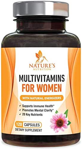 Multivitamin for Women One Daily Highest Potency 1000mg - Natural Whole Food Supplement, Made in USA, Best Vitamins A B C D E, Biotin, Calcium, Zinc, Magnesium, Folic Acid - 120 Capsules
