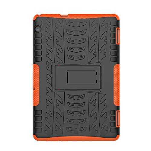HowLoo Protect Cover for Huawei Mediapad T5 10.1Inch Multicolor Hard Shell Stand Case (Orange)