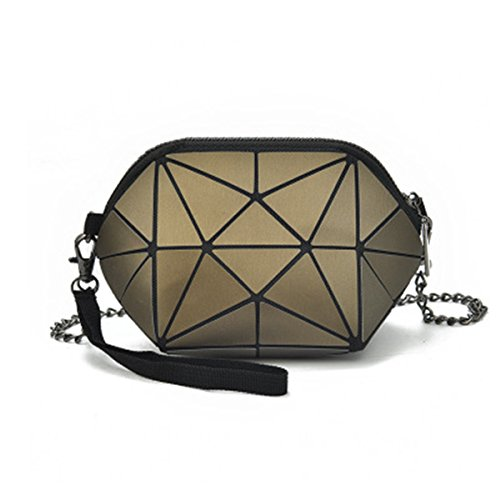 Leather Bags For Women PU Brown Purse Small BeautyWJY Geometric Holographic Phone xgAwEc70q