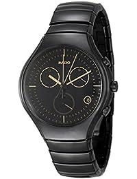 True Chronograph Black Ceramic Mens Watch Calendar Quartz R27814152. Rado