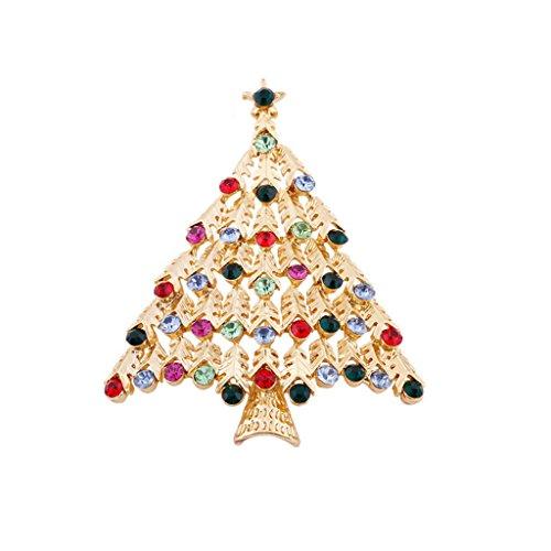 Mode Fête Cadeau Mignon Coloré Arbre de Noël Broche de Vacances