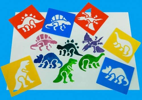 Haishell Washable Plastic Childrens Drawing Template Board Set Toys Kids Painting Stencils,Dinosaur