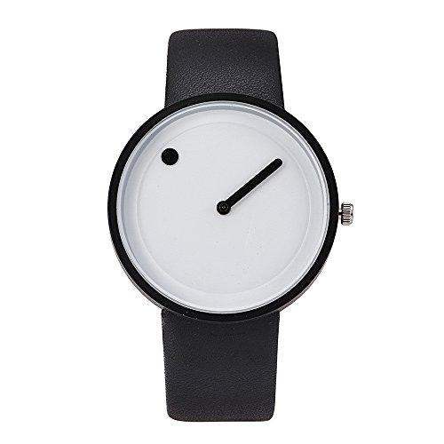 Nextstart Brand Minimalist Style Wristwatches Creative Design Dot and Line Simple Face Quartz Watches