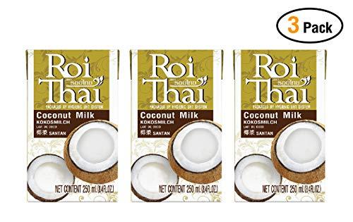 Roi Thai coconut milk 250 ml (8.4 oz) (Pack 3)