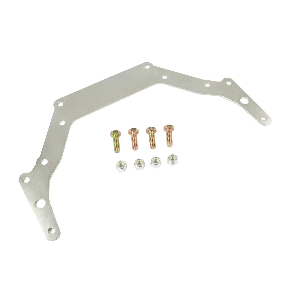PTNHZ RACING Transmission Adapter Plate for 1962-Up Chevy TH350 TH400 BOP-to Silver GM Turbo-Hydramatic Transmission 700R//4