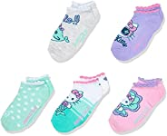 Hello Kitty girls Hello Kitty 5 Pack No Show Socks