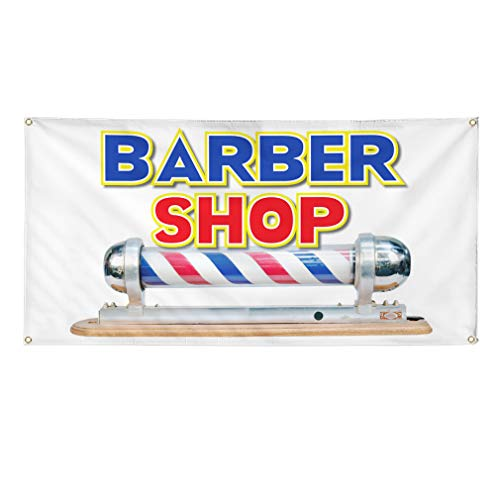Vinyl Banner Sign Barber Shop Business Style S