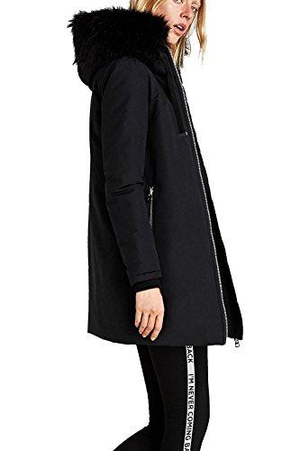 Femme Parka noir Manteau VILIER noir qawUx4H47T