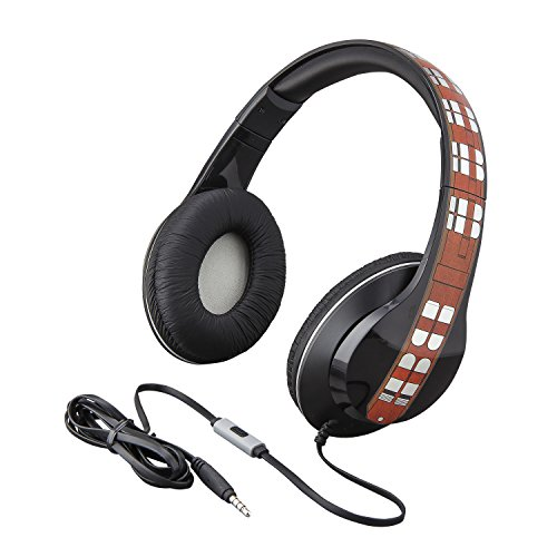 eKids Star Wars Han Solo Movie Chewbacca Over the Ear Headphones with Built in Microphone by eKids
