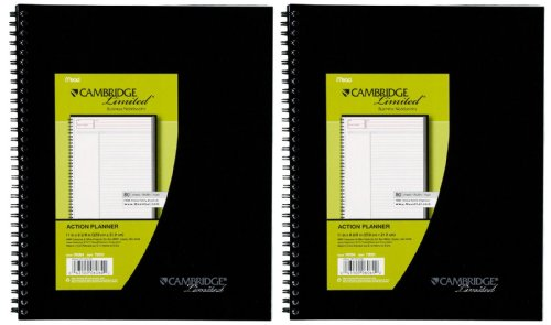Mead Cambridge Limited Business Notebook Action Planner, 2 pk
