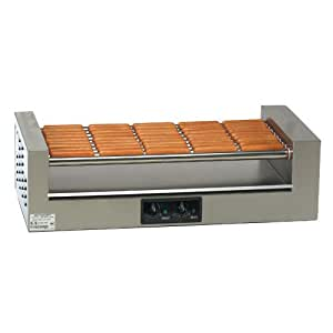 Gold Medal 8025 Hot Diggity Hot Dog Grill, Holds 54 (1/8 Lb.) Or 45 (1/4 Lb.) Hot Dog Capacity