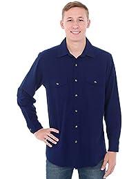 Rossa Mens Flannel Shirt, Long Sleeve Cotton Top