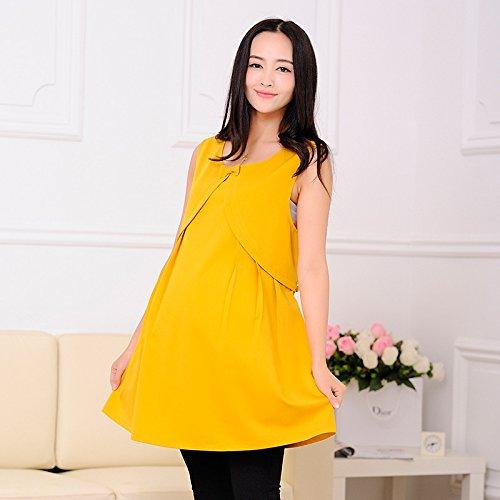 Vestido de maternidad antiradiación genuina chaqueta , yellow ,