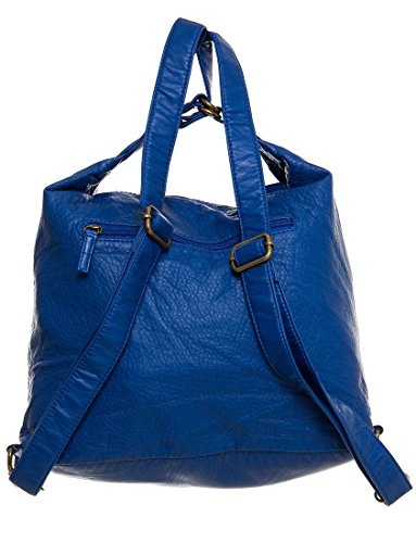 Convertible 3 amp; Purse Ampere Vegan Creations Royal Crossbody Leather Backpack way Blue by Xwt5qCYqx6