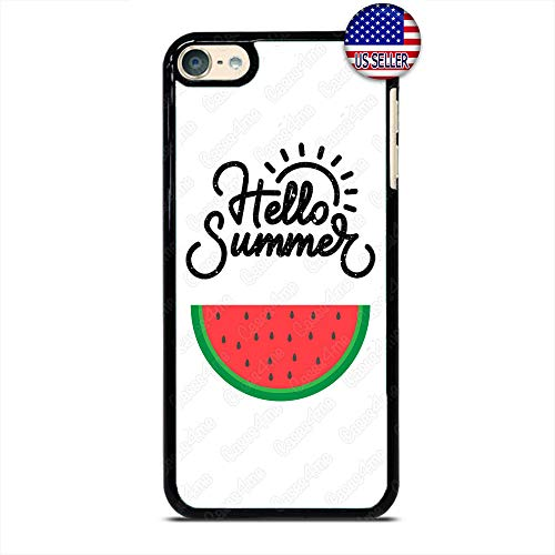 Hello Endless Summer Watermelon Fruit Slim Shockproof Hard PC Custom Case Cover for iPod Touch 7 6 5 4 (Ipod Fruit Silicone Cases 5)