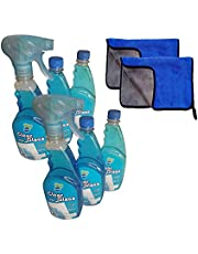 Clear Glance Glass Polish 6 Pack with 2 Microfiber Towels