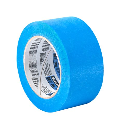Tapecase 2090 Long-Mask Masking Tape Converted from 3M 2090-1.25 in. x 180 ft. Masking Tape Roll for Medium Adhesion. Painting Wall Preparation - Outdoor Masking Tape 2090 3m