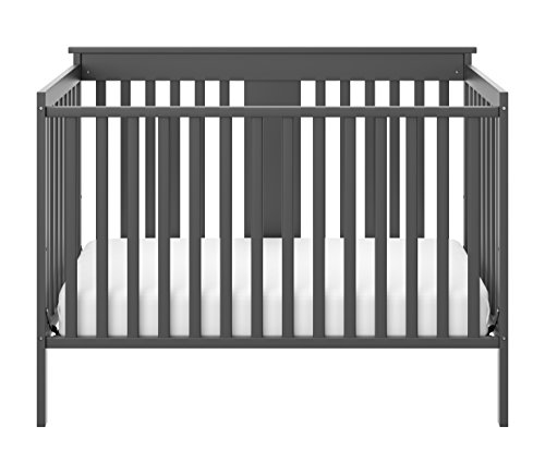 Storkcraft Mission Ridge Fixed Side Convertible Crib, Gray, Fixed Side Crib, Solid Pine and Wood Product Construction, Converts to Toddler Bed Day Bed or Full Bed, (Mattress Not Included) Review