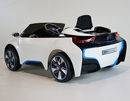 upgraded kids 12v official bmw i8 concept battery operated ride on car with remote control. Black Bedroom Furniture Sets. Home Design Ideas