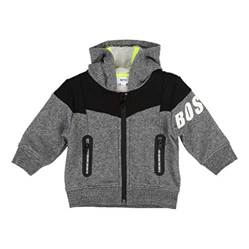 (Hugo Boss Kids Gray/Black Cardigan Suit)